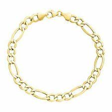 Just Gold Men's Figaro Link Chain Bracelet in 14k Gold