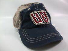88 Dale Earnhardt Jr Nascar Hat Blue Tan Hook Loop Trucker Cap