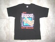 Vintage Funny FUNKY NEW ORLEANS VOODOO Fest Black Sex Shirt USED LARGE L