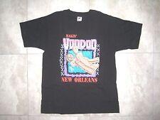 Vintage Funny FUNKY NEW ORLEANS VOODOO Fest Black Sex Shirt USED LARGE L