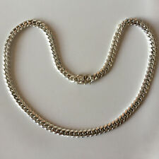 """9 mm solid Miami Cuban link Fine .999 silver chain necklace handmade 24.25"""""""