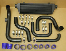 BLACK ALUMINUM BLOT-ON TURBO INTERCOOLER PIPING KIT HONDA CIVIC 96-00 D15 D16 SI