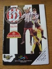 19/09/1998 Shepshed Dynamo v Bloxwich Town [FA Cup] (Small Adhesive Strips On Sp