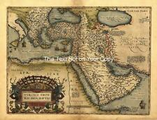 A1 Große Alte Saudi-arabien Türkei Türkisch Reich Nahost Retro Antik Landkarte