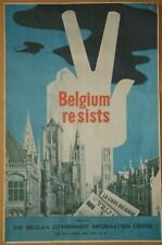 "WW2 ""Belgium resists"" poster"