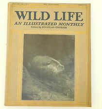 Wild Life vintage magazine Douglas English March 1913 vulture snake fly swan