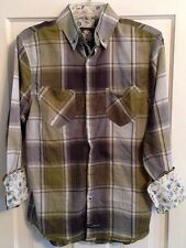 ENGLISH LAUNDRY Shirt Green Plaid Button Down Size S Christopher Wicks