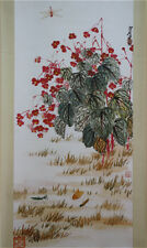 "RARE Chinese Hanging Scroll & Painting ""Flowers & Insects"" By Qi baishi 齐白石 CHX9"
