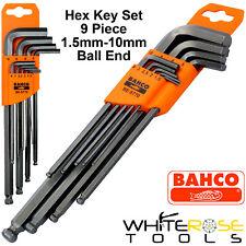Bahco Hex Key Set 9pc 1.5-10mm Ball End Allan Allen Wrench Hexagon