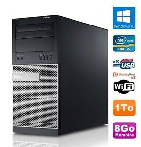 PC Tour Dell OptiPlex 3010 MT Intel i5 RAM 8Go Disque 1To Office Windows 10 Wifi
