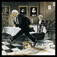Renato Casaro Dinner for One Poster Bild Kunstdruck im Alurahmen schwarz 70x70cm