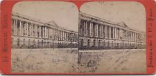Louvre Paris Photo Stereo Vintage albumine ca 1875