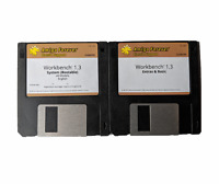 "New Amiga OS Workbench 1.3 Disk Set Cloanto Edition 3.5"" DD Floppy Disks #673"
