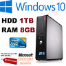 FAST DELL QUAD CORE PC COMPUTER DESKTOP TOWER WINDOWS 10 WI-FI 8GB RAM 1TB HDD