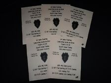 Vietnam War 5 VC Propaganda Leaflets Against US 25th INFANTRY DIVISION *Unused*