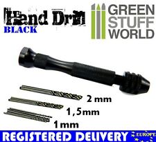Hobby Hand Drill - black - with 10 bits (in 1 mm, 1'5 mm, 2mm) - Warhammer tools