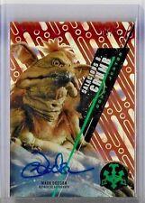 2016 Star Wars High Tek Autograph Orange MAGMA Diffractor Mark Dodson  #13/25