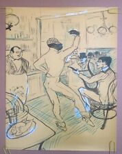 Chocolat Original Vintage Poster Man Dancing 1970's Pin-up H. Toulouse Lautrec