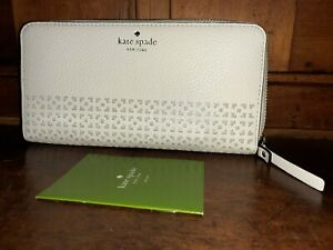 Kate spade handbags NWOT WALLET NEW YORK WHITE LASER CUT WALLET
