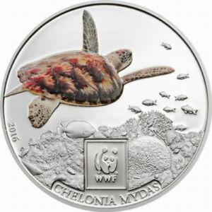 Tanzania 2016 Sea Turtle 100 Shillings Silver Plated Coin,Proof