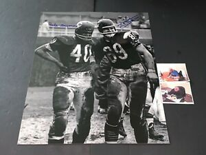 Mike Ditka and Gale Sayers Chicago Bears Autographed Signed 16x20 6 TD Game .