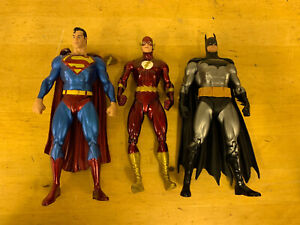 "DC COMICS JUSTICE LEAGUE 6-7"" INCH ACTION FIGURES INC BATMAN, SUPERMAN The Flash"