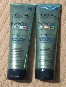 Lot Of 2Loreal EverCurl Sulfate-Free HydraCharge Shampoo Wavy Curly Hair 8.5 oz.