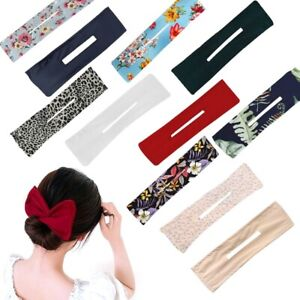 Deft Bun Hair Bands Women Summer Knotted Wire Lady Headband Print Hair Tools