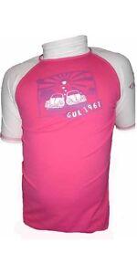 Gul Junior 'Buglove' Short Sleeved Rashguard Rashvest Pink Girls Kids RG0322