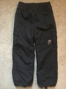 Boys Spyder Size 7 Black Snowboard/Ski Pants EUC