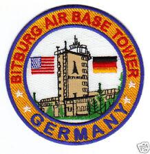 USAF BASE PATCH, BITBURG AIR BASE GERMANY CONTROL TOWER  .                     Y