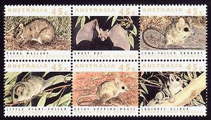 Australian Threatened Species 1992 block of 6  Faultless MNH   •  FREE POST  •