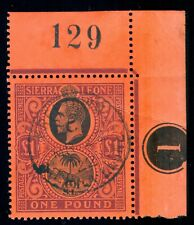 MOMEN: SIERRA LEONE SG #128 1912-21 USED LOT #60037