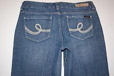 Seven 7 Premium Denim Brand Jeans Decorative Stitch Pocket Med Blue Sz 8 Bootcut