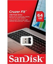 SanDisk 64GB Cruzer Fit USB 2.0 SD CZ33 64G USB FLASH DRIVE SDCZ33-064G