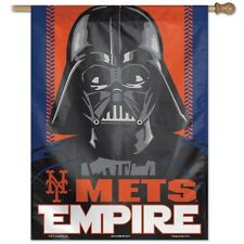 "NEW YORK METS DARTH VADAR ""EMPIRE"" 27X37 FLAG/BANNER NEW & OFFICIALLY LICENSED"