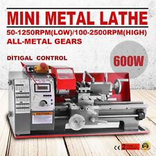 180 Metalldrehmaschine Drehmaschine Drehbank Digital Metal Lathe Drehbank 600W