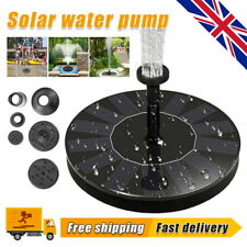 More details for solar powered floating pump water fountain birdbath pond pool garden home
