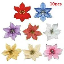 10Colors Artificial Bling Glitter Christmas Flower Xmas Tree Wedding Party Decor