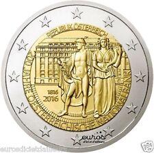 Pièce 2 euros commémorative AUTRICHE 2016 - Banque nationale d'Autriche - UNC