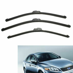 Front And Rear Windscreen Flat Wiper Blades use For Ford Mondeo 2000 -2007 #S04