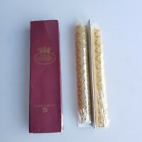 Dept 56 Taper Candles 8in Gold Crown scale pattern unused in box