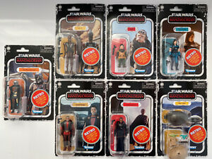 "Star Wars Retro Mandalorian Wave 3.75"" Figures, 7 x Figures"