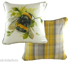Bumble Bee Cushion by Evans of Lichfield 43x43cm DPA455 Piped Edging