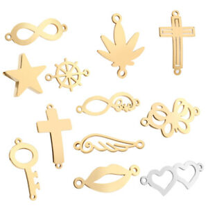New Fashion Gold Stainless Steel Different Styles Jewelry Connectors Accessory