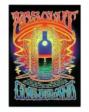 Absolute Vodka Cleveland 1998 Alton Kelley Psychedelic Postcard