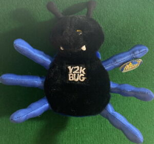 Y2K BUG 1999 SPIDER Bean Bag Plush Toy COllectible with To/From Hang Tag NEW!