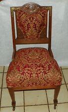 Quartersawn Oak Griffin Carved Sidechair / Parlor Chair  (SC263)