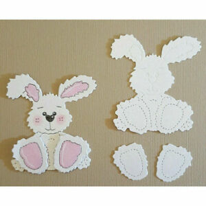 Cutting Dies*RABBIT*New Baby*Birthday*Cards*Toppers*