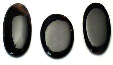 Genuine Black Onyx 169.6 TCW Lot of 3 PCS. Pear Cut Cabochons!!